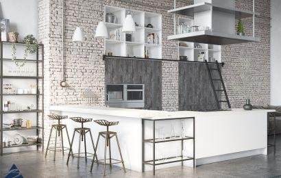 Кухня из ламинированного ДСП «ЛОФТ Синкрон»