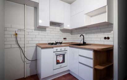 Кухня ВШ745 Пост Снежный в кр в цвет