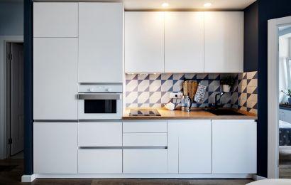 Кухня ОС2047 Акрил-5 Белый Топ Матт