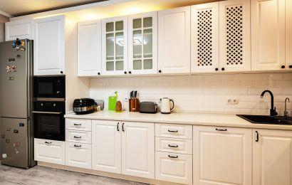 Кухня ХМ238 МДФ эмаль Лонгфорд RAL9003