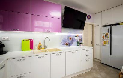 Кухня ХМ401 Пост-5 Кристальный белый/ МДФ Эмаль Система гл MZ1272
