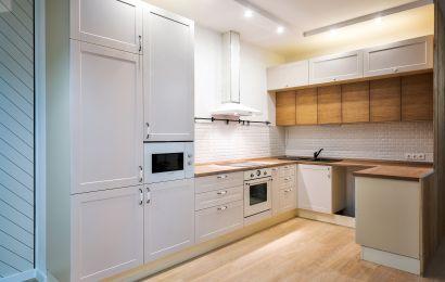 Кухня КА789 МДФ крашеный Трент ZOV233 матовый + Шпон ясеня Т222кв/181 (масловоск)