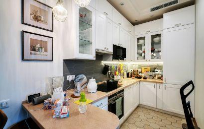 Кухня МШ718 Массив Ясеня Т537 Лугано цвет 101 без патины