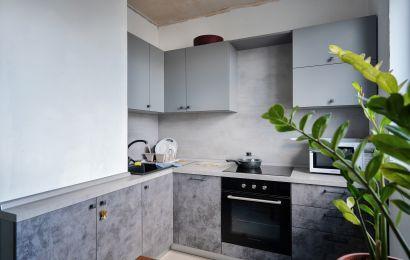 Кухня ОД9 Верх Эггер 18мм Серый пыльный/ Низ Пост-Смарт цинк