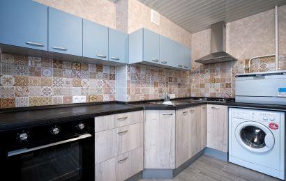 Кухня БА914 Верх - Система Деним/ Низ - Тимбер Албус веритикально