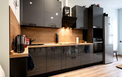 Кухня ВП686 Пост-5 Шторм F7912 GLS