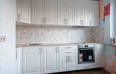 Кухня БА913 МДФ Лонгфорд крашеный RAL9010 мат