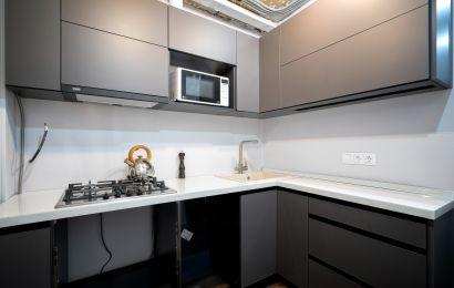 Кухня СУ721 Акрил-7 Тоффи Кристалл