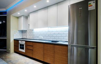 Кухня СУ410 Акрил мат. Белый/Т422 КВ-1 №180