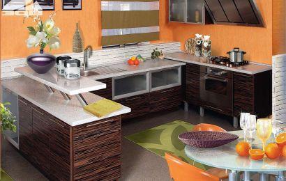 """Кухня ЗОВ Фасад: """"Тафель 3"""". Зебрано (глянец)"""